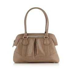 The Collection Taupe mock croc doctor's bag £24.50