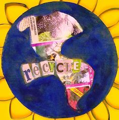 Real Earth Day lesson--students use a glyph to create this from recycled items. A flip book teaches about reusing, recycling, and reducing (this reduces the pages you have to print)