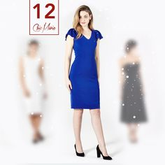 Osez l'originalité avec une robe bleu royal qui saura vous illuminer! http://chicmarie.com/fr  Dare to be original with a bright and beautiful royal blue dress! http://chicmarie.com/en
