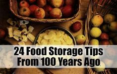 Food storage tips from 100 yrs ago