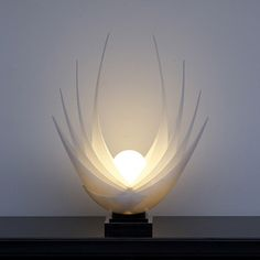 Rougier Lamp, 1980s. one day i will have pretty breakable things in my house.........................