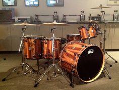 DW: 8x10 9x12 14x14, 16x16 Floor Toms 18x24 Bass Drum 7x14 Snare Black Nickel HW w/ SSC shells