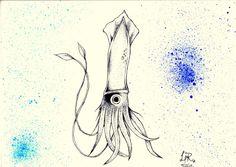 A kraken #dotwork #tattoo #aquarela #kraken