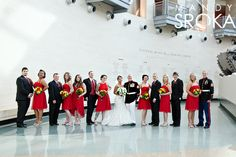 marine museum wedding photo. I love the color combo with the dress blues. Looks great