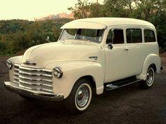 1951 Chevy Suburban Carryal- The Family Bus! Chevrolet Suburban, Chevrolet Trucks, Gm Trucks, Cool Trucks, Pickup Trucks, Pickup Camper, Truck Camper, Diesel Trucks, Station Wagon