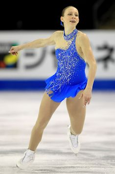 Agnes Zawadzki -Blue Figure Skating / Ice Skating dress inspiration for Sk8 Gr8 Designs.