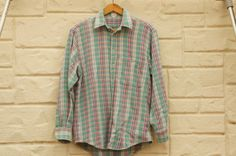 80s-90s Men's Plaid Flannel Shirt Grunge by SycamoreVintage