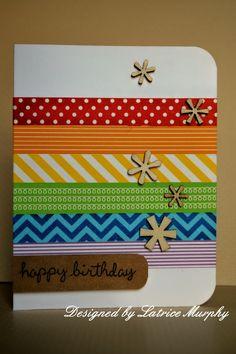 Washi tape cards #3