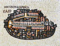 Custom Madaba Mosaic Map