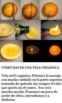 Una vela natural, aromática, fácil y orginal