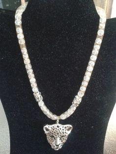 Collar malla leopardo