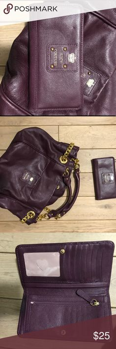 Juicy Couture Plum Leather Wallet Never used Juicy Couture Plum Leather Wallet Juicy Couture Bags Wallets