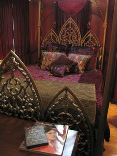 Bedroom sanctuary........from medieval muse pinterest..........great to see a real persons home.