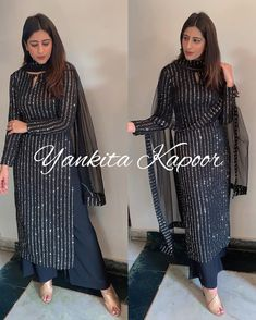 Party Wear Indian Dresses, Pakistani Fashion Party Wear, Designer Party Wear Dresses, Pakistani Dresses Casual, Indian Fashion Dresses, Dress Indian Style, Pakistani Dress Design, Black Pakistani Dress, Latest Pakistani Fashion