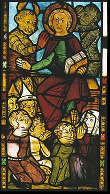 Antéchrist — Wikipédia Medieval Stained Glass, Grisaille, 15th Century, Religion, Crystals, Painting, Germany, Google, Color