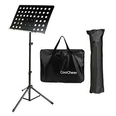 Coocheer Black Folding Music Conductor Stand SheetBook Tripod Holder with Two Carrying Bags Lightweight  Portable and Suitable for Violin Guitar Flute and Instrumental Performance * Click image for more details.Note:It is affiliate link to Amazon.
