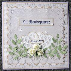 Endnu et bryllupskort Valentine Day Cards, Card Tags, Creative Cards, Wedding Anniversary, Wedding Cards, Christmas Cards, Frame, Floral, Fun