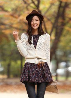 moda juvenil coreana mujer invierno - Buscar con Google