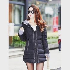 Parkas Long Cartoon Embroidery Knitted Hooded Winter Jacket Women Parka Coat Warm Cotton Padded Thick Snow Army Green Korean Overcoat Rich In Poetic And Pictorial Splendor
