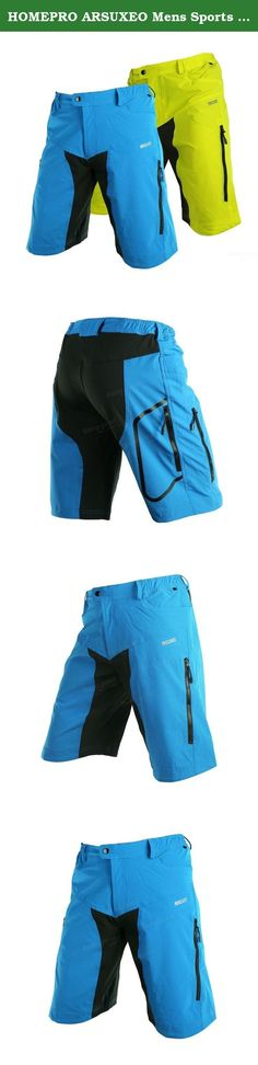 HOMEPRO ARSUXEO Mens Sports Riding Short Pants Cycling Bike Bicycle Shorts Trousers ( Blue ). This list Size or Color : Blue ARSUXEO Mens Sports Riding Short Pants Cycling Bike Bicycle Shorts Trousers Specification: Brand: ARSUXEO Material: Polyester/Elastane Thickness: Slightly thin Elasticity: Stretchy Quick-dry: Quick Gender: Men Season: Spring, Summer Function: Breathable / Quick Dry / Wicking Weight: 0.38kg Size chart: US Size S M L XL Asian size (Tag size) M L XL XXL waistline(inch)...