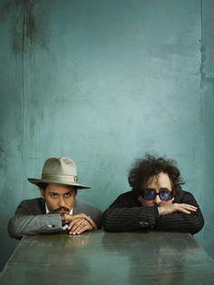 Johnny Depp & Tim Burton, photo by Marc Hom