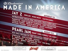 Made In America Festival - 9/1-9/2/12 at Ben Franklin Parkway