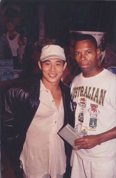 Jet Li when he first came to America