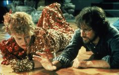 Getting down on the dancefloor: Spielberg with Kate Capshaw.  More behind the scenes pics from the Indy films at the link.