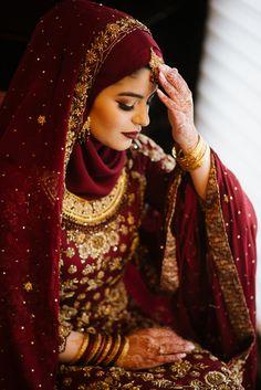 Sabriya Omar Alberta Canada Wedding Photography by Photography Bridal Hijab Styles, Asian Bridal Dresses, Asian Wedding Dress, Muslim Wedding Dresses, Muslim Brides, Bridal Outfits, Indian Dresses, Muslimah Wedding, Pakistani Bridal Dresses