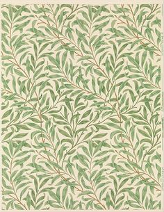 'Willow Bough.' Block-printed wallpaper designed 1887 by William Morris for Morris & Company. Printed by Jeffrey & Co. Image and text courtesy The Metropolitan Museum of Art