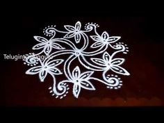 Latest rangoli designs with 7-4 middle | Chukkala muggulu with dots | rangoli designs - YouTube