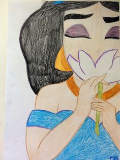 Disney's Jasmine-drawing
