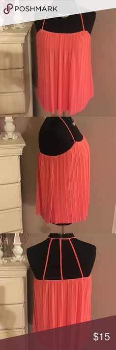 Forever 21 Chiffon Top size Small Beautiful Forever 21 Silky Chiffon top. Never worn it is lined size small excellent condition Coral color Forever 21 Tops Blouses