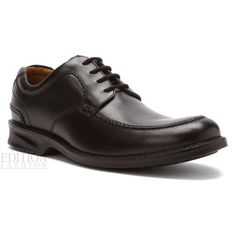 Clarks Colson Camp Men's Leather Moc Toe Oxford Shoes Style 68032 Black #Clarks #Oxfords