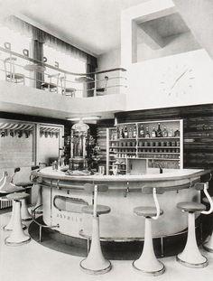 design-is-fine:  Karl Hofmann & Felix Augenfeld, Espresso Bar, 1930. Austria. From the magazine Kunst & Dekoration. Via University of Heidelberg