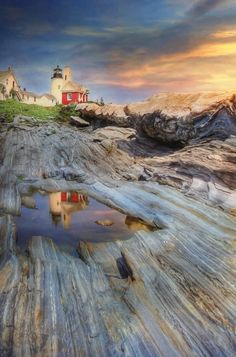 Pemaquid Lighthouse, Maine, 1835 photograph by Lori Deiter. The Light Between Oceans, Beautiful Places, Beautiful Pictures, Reflection Photography, Beach Scenes, Vacation Spots, Beautiful Landscapes, Travel Pictures, Fine Art America