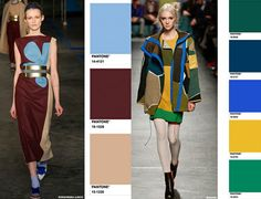 Top Colour Combos F/W 15/16 from the runways - Trend Council / Pantone