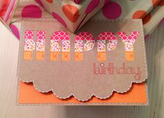 Washi Tape Birthday Card...love the design
