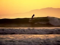 Surfing a Cali sunset
