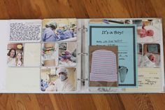 Project Life Tuesday:Luke's baby album Part 1