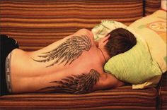 Angel Wing Tattoos For Girls On Back | tattoo # guy tattoo # angel wing tattoo # back tattoo