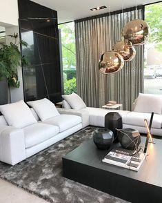 Minotti model Freeman at RAW design . Living Room Color Schemes, Living Room Designs, Living Room Interior, Living Room Decor, Contemporary Interior Design, Room Colors, House Design, Design Room, Design Design