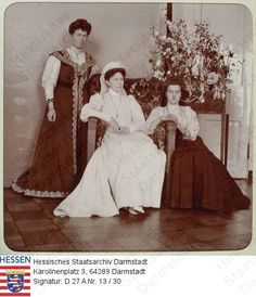 Princess Irene of Prussia, Grand Duchess Elizabeth, & Grand Duchess Marie Pavlovna (The Younger), 1906