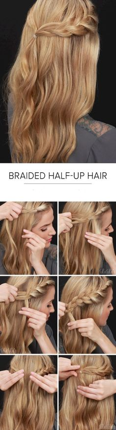 Cool 80+ Easy Half Up Half Down Hairstyles for Every Occasion https://bitecloth.com/2017/08/17/80-easy-half-half-hairstyles-every-occasion/
