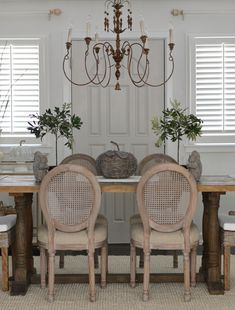 5560e1683b8 Cane Dining Chairs French Country Farm Table Chandelier Light Fixture  French Country Dining Chairs
