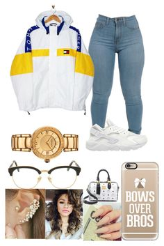 """"""""""" by baddie143123 ❤ liked on Polyvore featuring Tommy Hilfiger, Casetify, Coleman, Sunday Somewhere, NIKE, MCM, Miss21 Korea and Versace"""