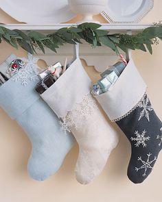 #DIY Tutorial: snowflake stockings