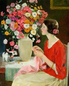 Karl Albert Buehr (German-born American Painter, 1866-1952) Expectancy
