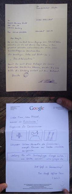 Brief an Google | Webfail - Fail Bilder und Fail Videos