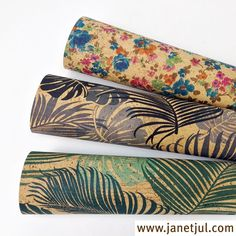 Nuevos colores en nuestra tela de corcho natural. El tejido de corcho se puede lavar, es impermeable y ecológico.
